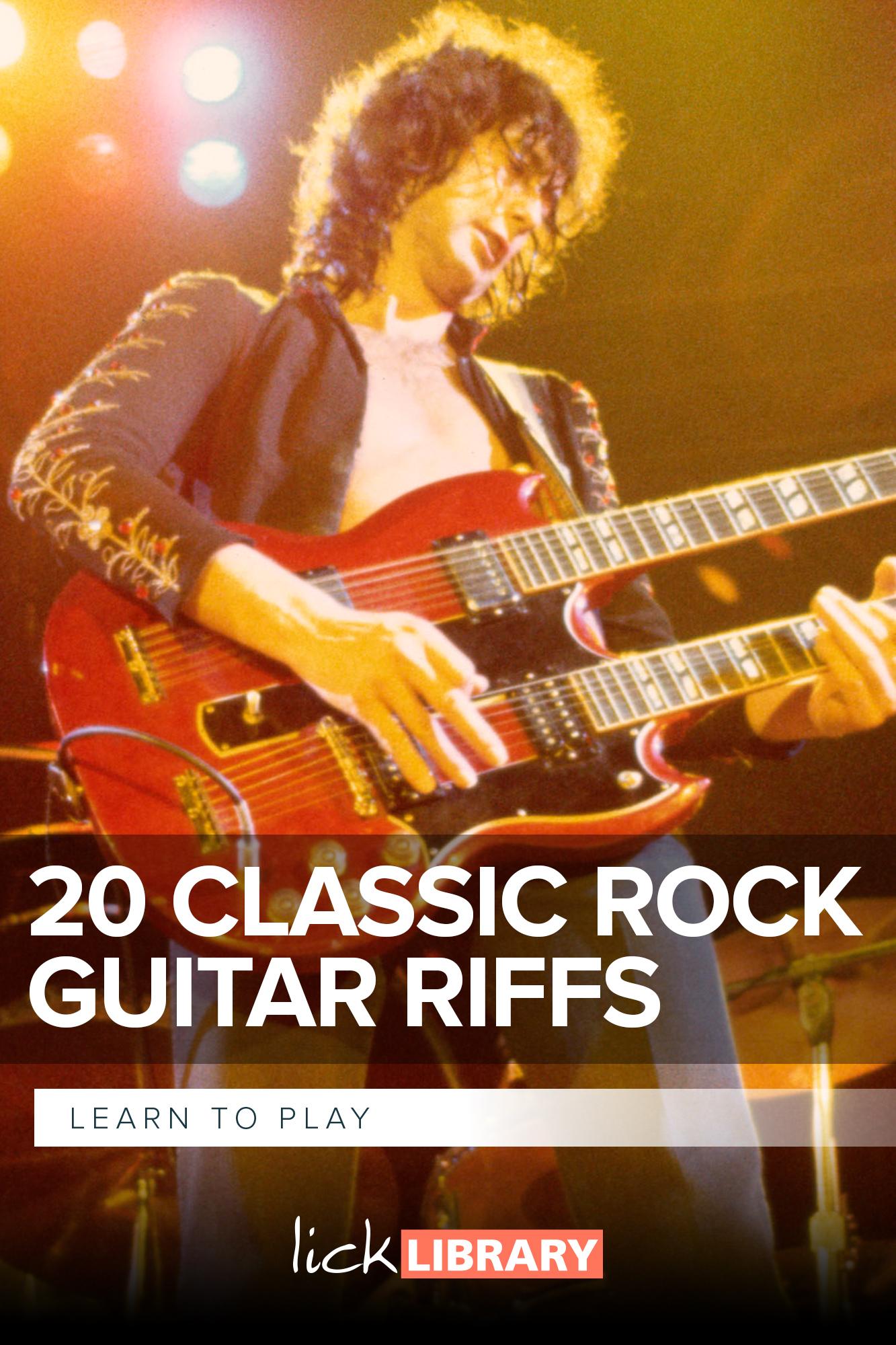 Thumbnail course LTP 20 Classic Rock Guitar Riffs RDR0017